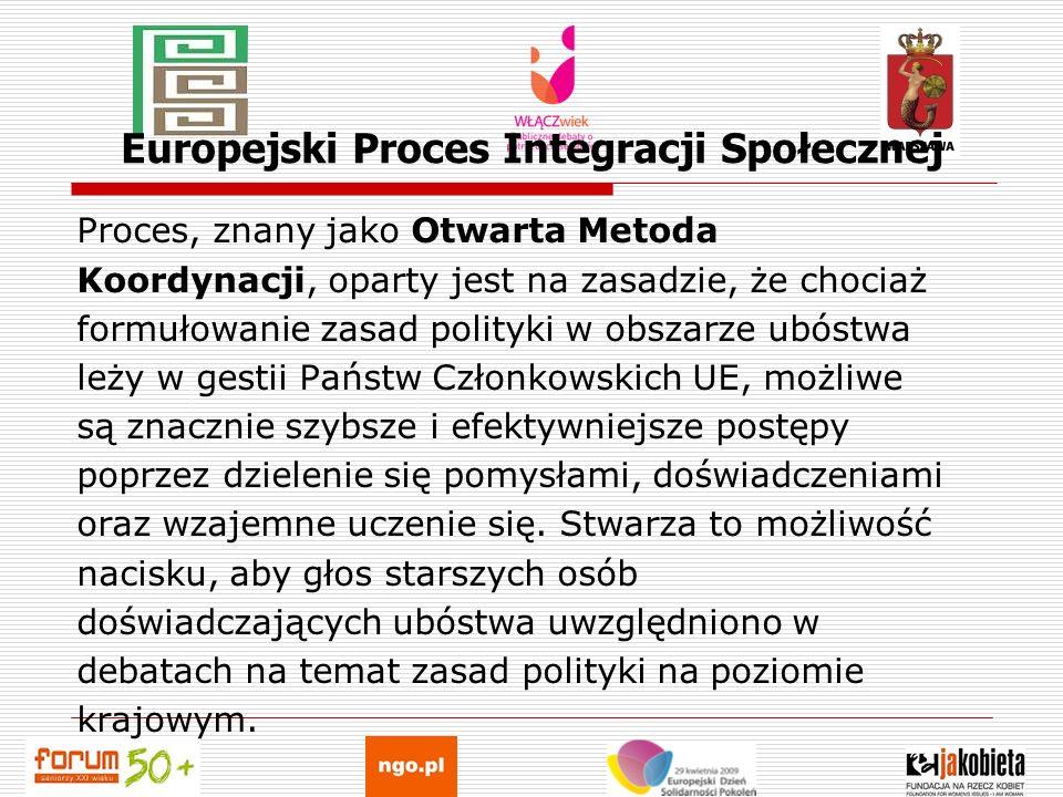 Europejski Proces Integracji Społecznej Proces, znany jako Otwarta Metoda Koordynacji, oparty jest na zasadzie, że chociaż formułowanie zasad polityki