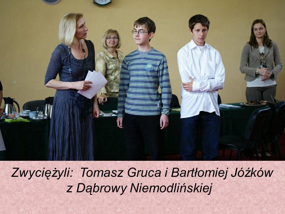 Zwyciężyli: Tomasz Gruca i Bartłomiej Jóźków z Dąbrowy Niemodlińskiej