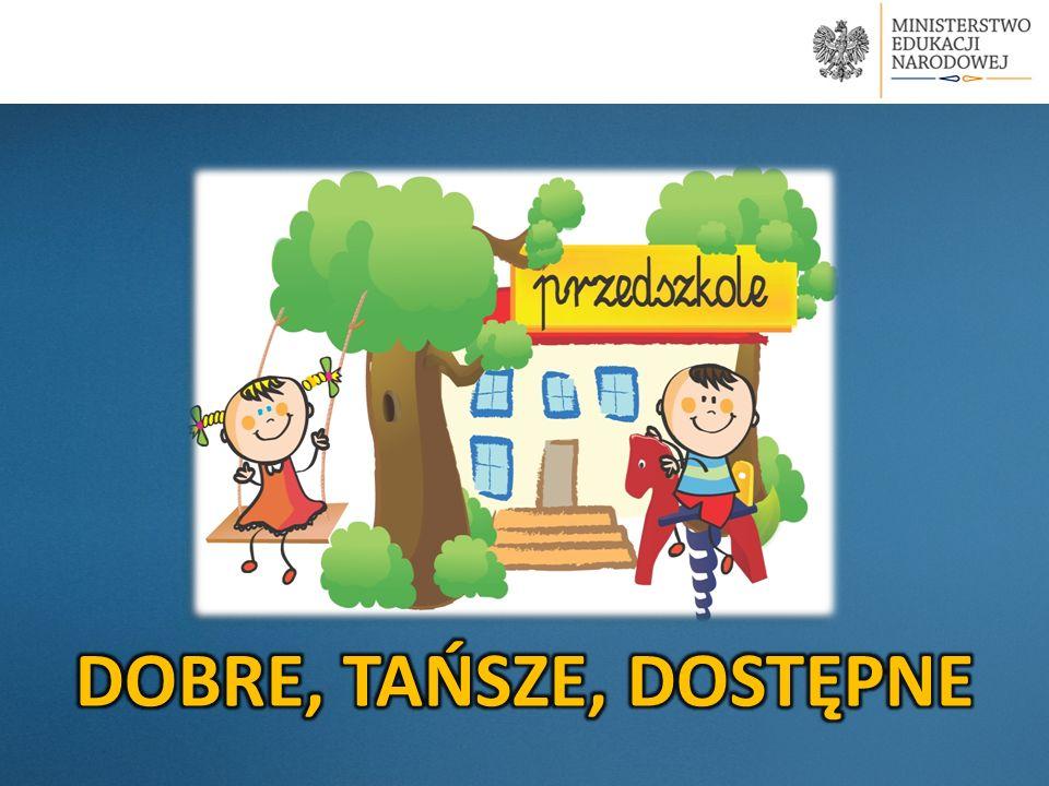 Na terenie gminy 419 dzieci jest objęte wychowaniem przedszkolnym; W tym 272 w wieku od 2 do 5 lat; Na terenie gminy nie ma placówek niepublicznych; Opłata wynosi 3,98 zł; przewidziana jest ulga na 2 i kolejne dziecko w przedszkolu; 90% populacji dzieci 3-5 letnich może być objętych wychowaniem przedszkolnym w 2016 r.