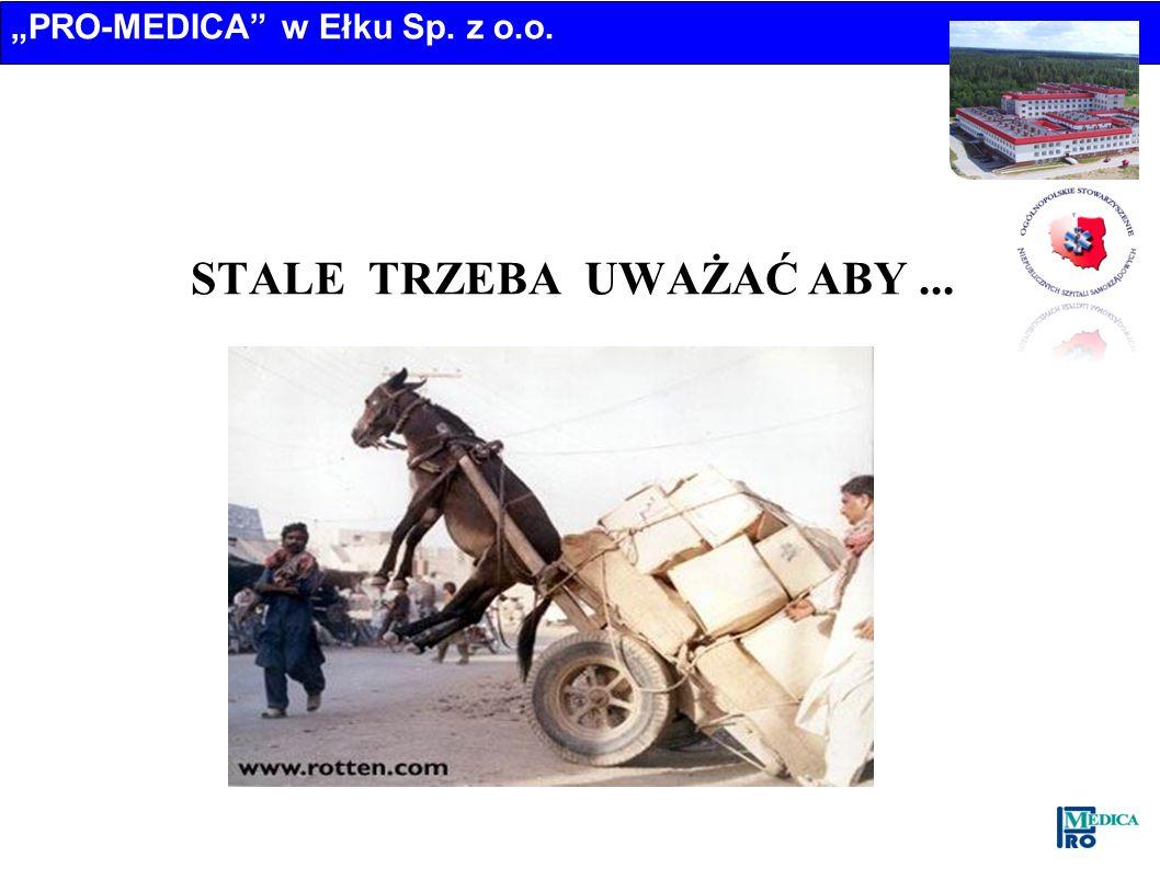 PRO-MEDICA w Ełku Sp. z o.o. STALE TRZEBA UWAŻAĆ ABY...