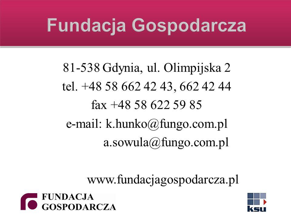 81-538 Gdynia, ul. Olimpijska 2 tel.