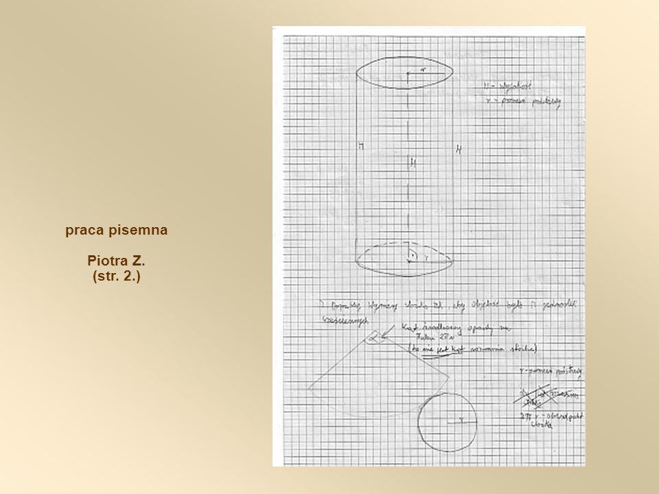praca pisemna Piotra Z. (str. 2.)