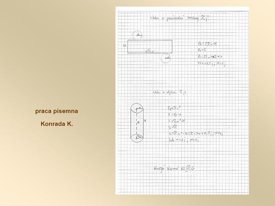 praca pisemna Konrada K.