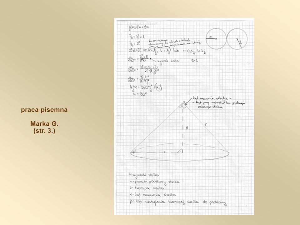 praca pisemna Marka G. (str. 3.)