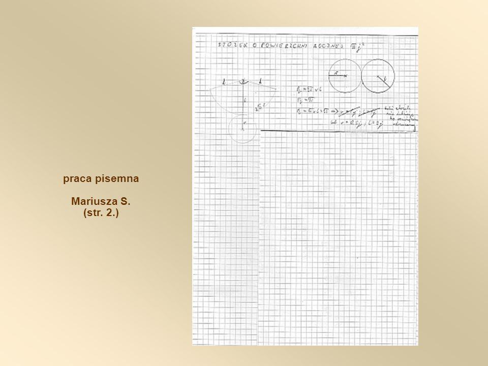 praca pisemna Mariusza S. (str. 2.)