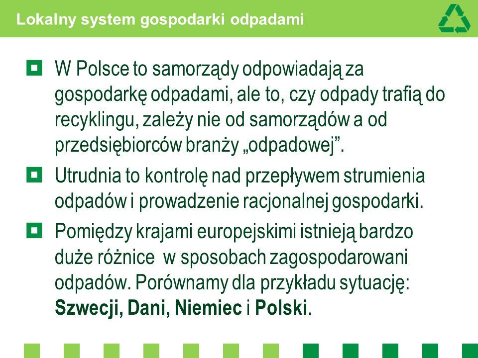 Lokalny system gospodarki odpadami W Polsce to samorządy odpowiadają za gospodarkę odpadami, ale to, czy odpady trafią do recyklingu, zależy nie od sa