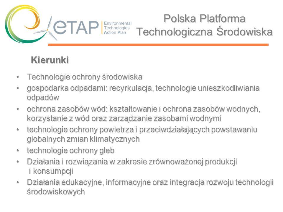 Polska Platforma Technologiczna Środowiska Technologie ochrony środowiskaTechnologie ochrony środowiska gospodarka odpadami: recyrkulacja, technologie
