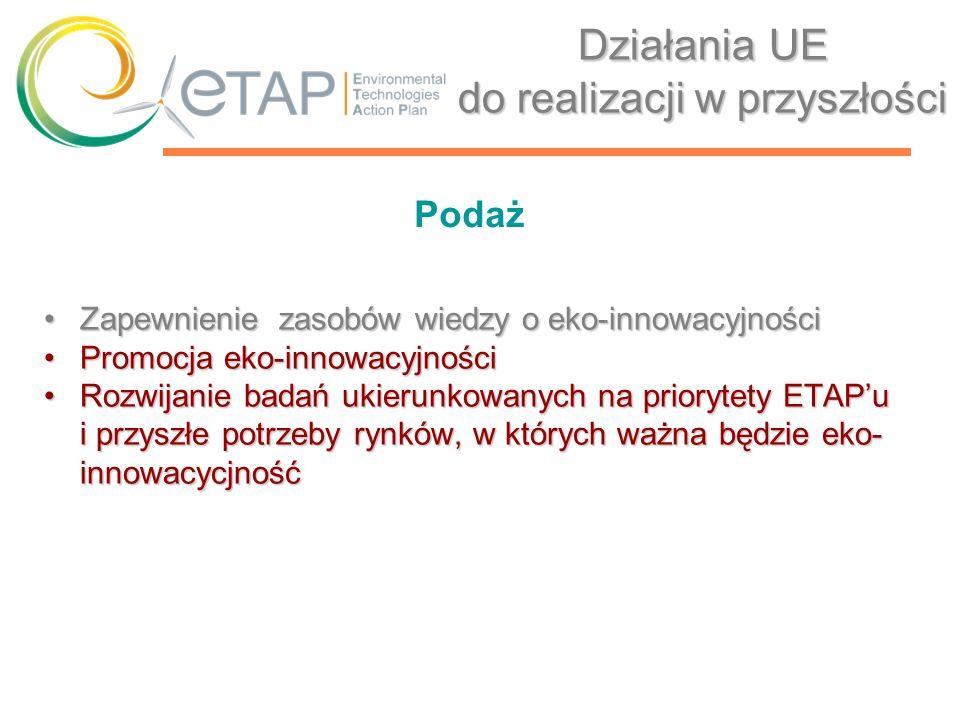 Mapa drogowa wdrażania Planu Działań na rzecz Technologii Środowiskowych w Polsce (KETAP) Decyzja KERM: 20 stycznia 2006 roku Przedstawienie stanu istniejącegoPrzedstawienie stanu istniejącego Wskazanie głównych kierunków działańWskazanie głównych kierunków działań Wskazanie sposobów koordynowania działańWskazanie sposobów koordynowania działań Ułatwienie przepływu informacjiUłatwienie przepływu informacji Realizacja zadań w ramach programów operacyjnych Narodowych Strategicznych Ram Odniesienia ETAP w Polsce