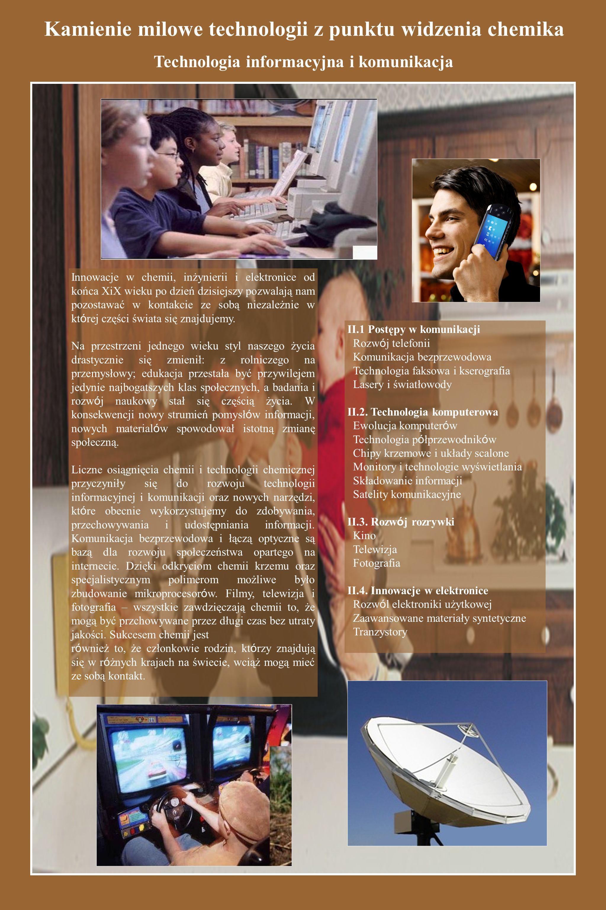 II.Technologia informacyjna i komunikacja A.