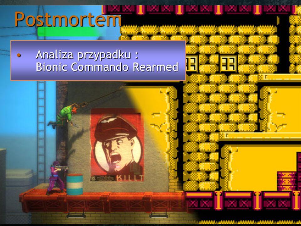 Postmortem BCRBCR Remake klasycznej gry platformowejRemake klasycznej gry platformowej Wyjątkowo innowacyjna jak na swoje czasyWyjątkowo innowacyjna jak na swoje czasy Brak skoku, zastąpienie mechaniką rękiBrak skoku, zastąpienie mechaniką ręki Wyróżniono 2 typy klientówWyróżniono 2 typy klientów Hardocowi faniHardocowi fani Typowi graczeTypowi gracze