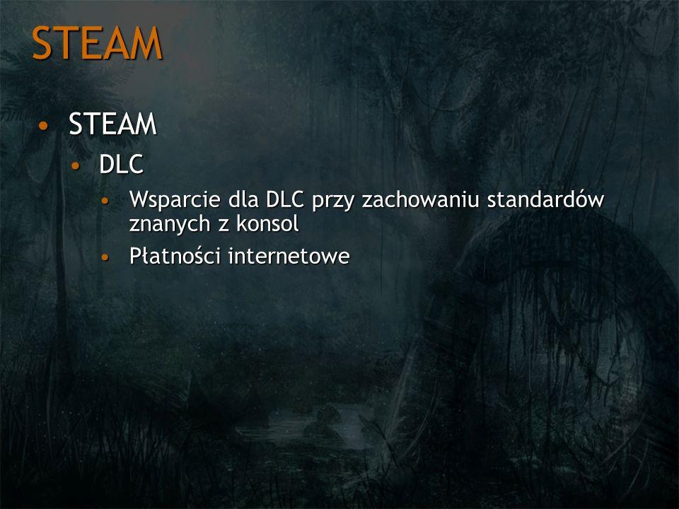 STEAM STEAMSTEAM DLCDLC Wsparcie dla DLC przy zachowaniu standardów znanych z konsolWsparcie dla DLC przy zachowaniu standardów znanych z konsol Płatn