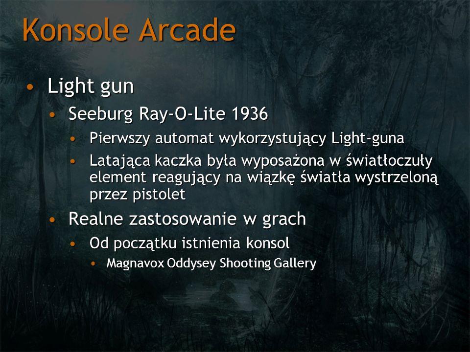 Konsole Arcade Light gunLight gun Seeburg Ray-O-Lite 1936Seeburg Ray-O-Lite 1936 Pierwszy automat wykorzystujący Light-gunaPierwszy automat wykorzystu