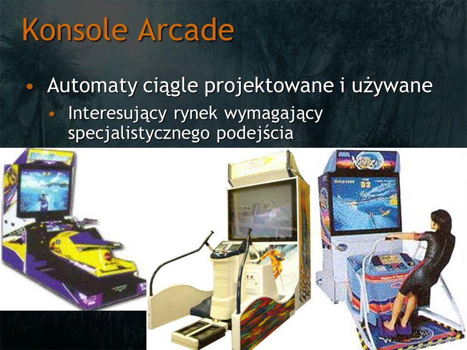 Konsole Arcade Automaty ciągle projektowane i używaneAutomaty ciągle projektowane i używane Interesujący rynek wymagający specjalistycznego podejściaI