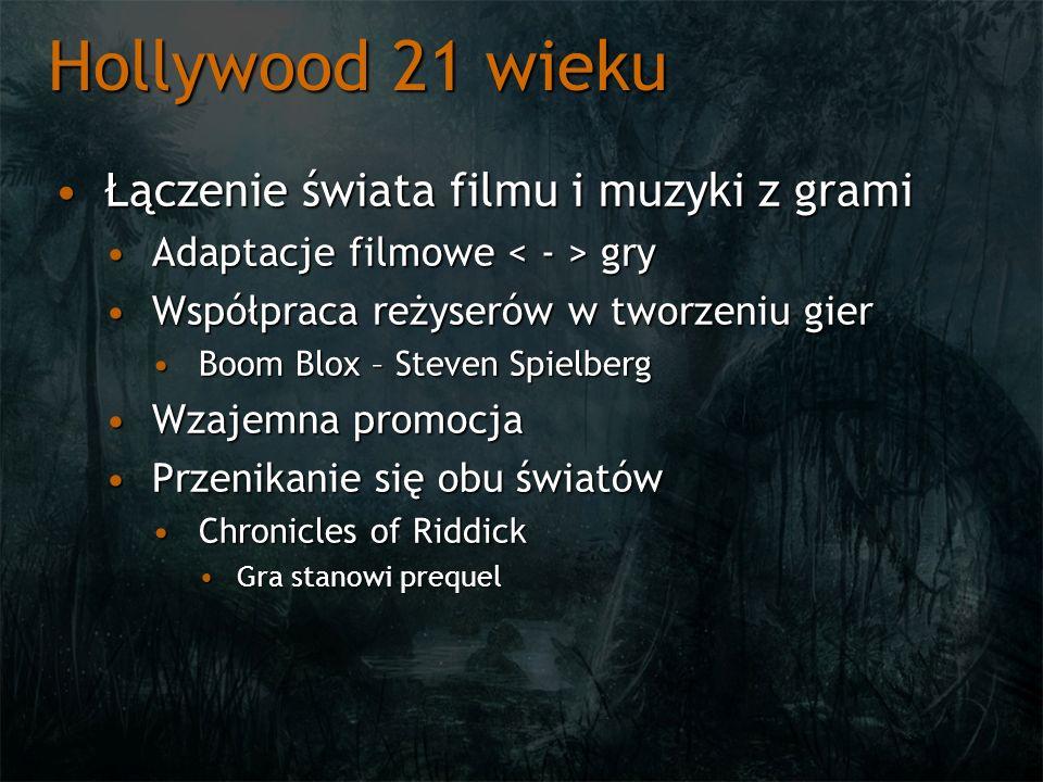 Hollywood 21 wieku Łączenie świata filmu i muzyki z gramiŁączenie świata filmu i muzyki z grami Adaptacje filmowe gryAdaptacje filmowe gry Współpraca