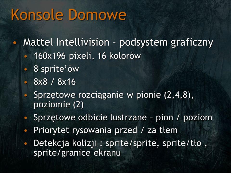 Konsole Domowe Mattel Intellivision – podsystem graficznyMattel Intellivision – podsystem graficzny 160x196 pixeli, 16 kolorów160x196 pixeli, 16 kolor
