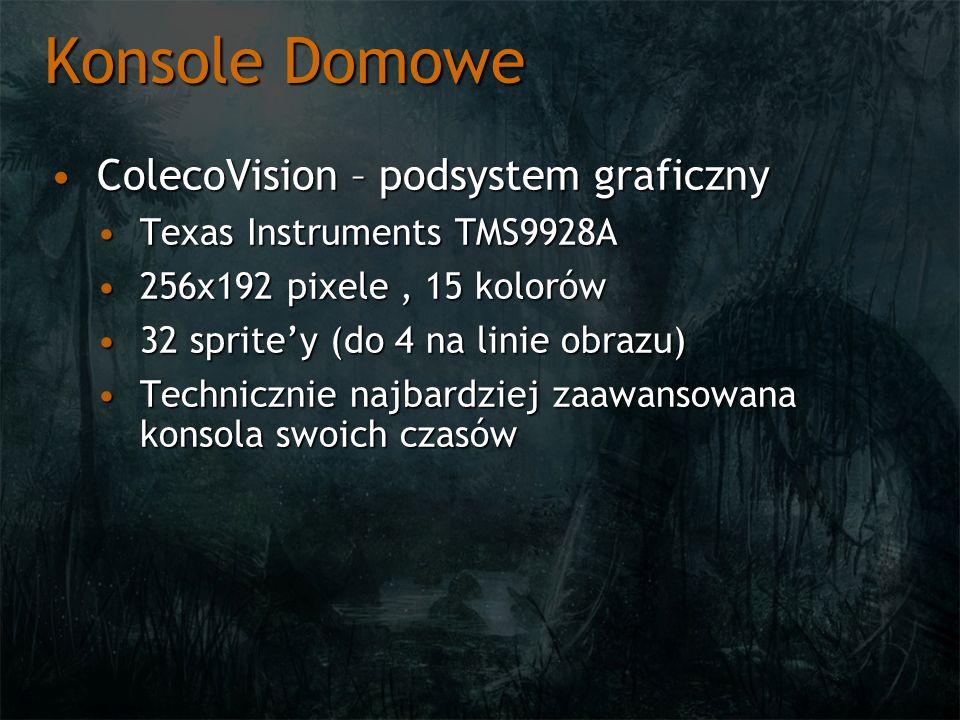 Konsole Domowe ColecoVision – podsystem graficznyColecoVision – podsystem graficzny Texas Instruments TMS9928ATexas Instruments TMS9928A 256x192 pixel