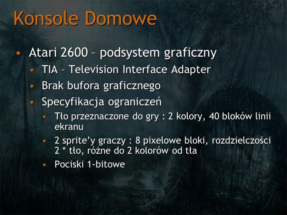 Konsole Domowe Atari 2600 – podsystem graficznyAtari 2600 – podsystem graficzny TIA – Television Interface AdapterTIA – Television Interface Adapter B