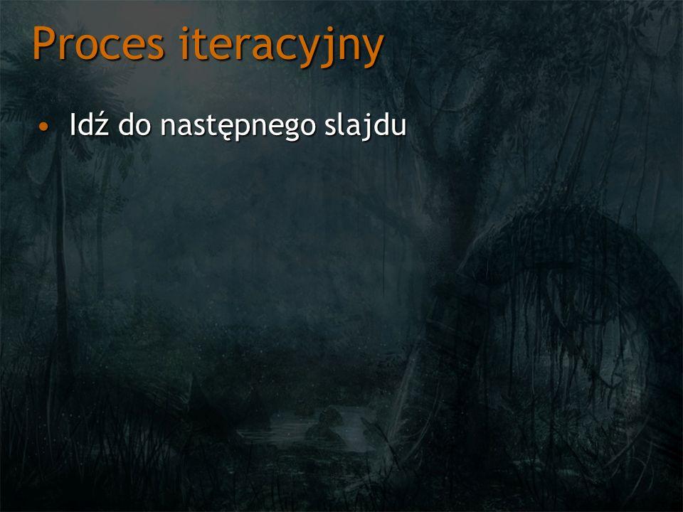 Proces iteracyjny Idź do następnego slajduIdź do następnego slajdu