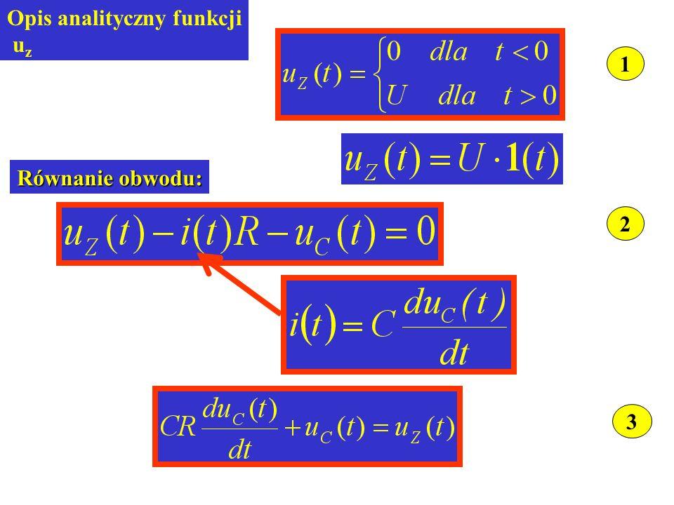 3 1 Opis analityczny funkcji u z 2 Równanie obwodu: