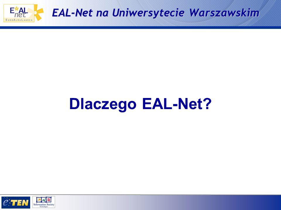EAL-Net na Uniwersytecie Warszawskim Dlaczego EAL-Net