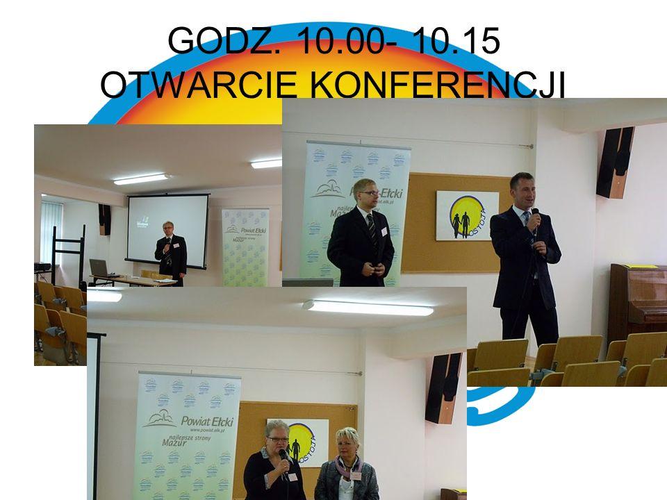 GODZ. 10.00- 10.15 OTWARCIE KONFERENCJI