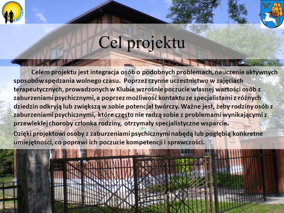 Cel projektu Celem projektu jest integracja osób o podobnych problemach, nauczenie aktywnych sposobów spędzania wolnego czasu.