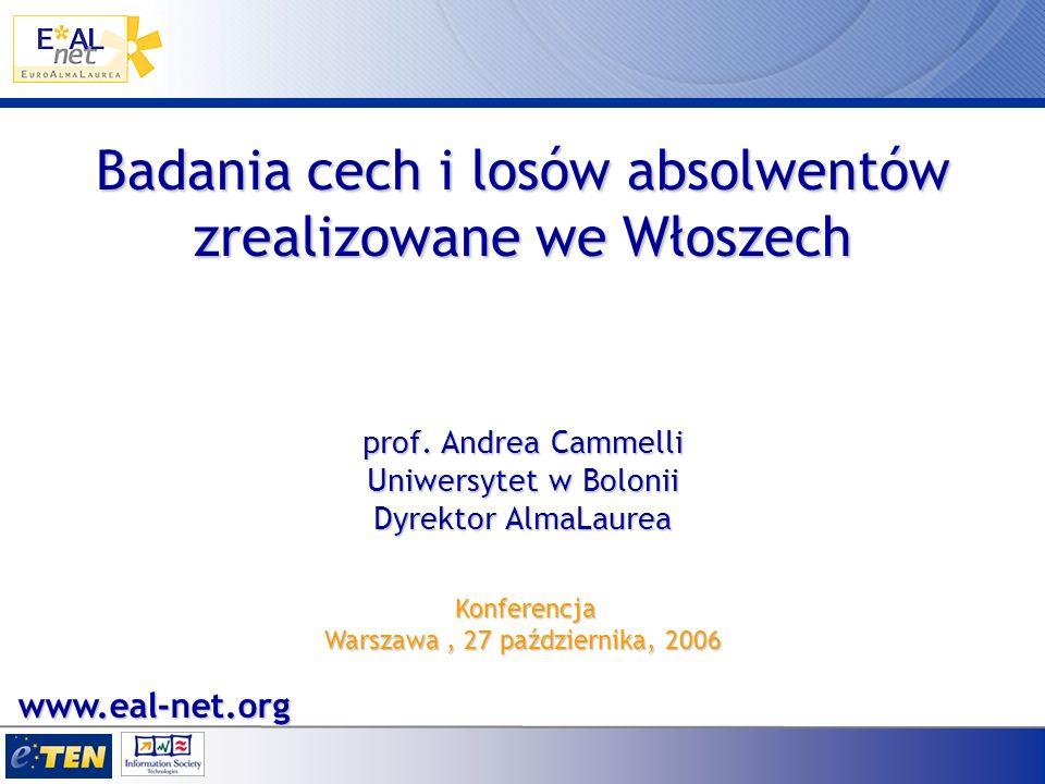 Badania cech i losów absolwentów zrealizowane we Włoszech prof.