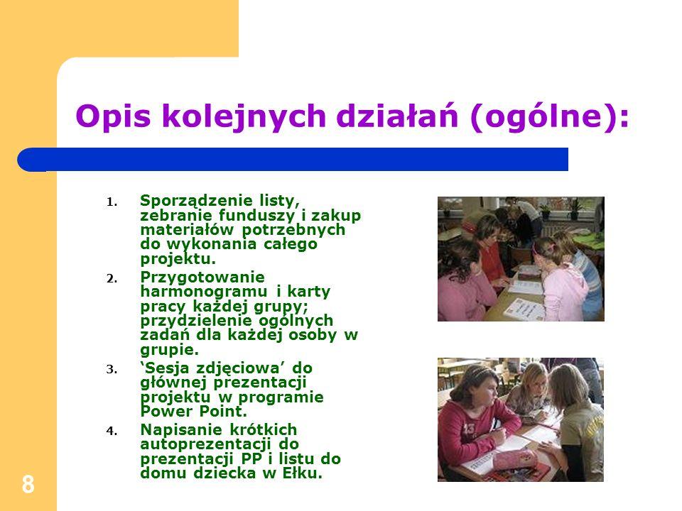 9 Opis kolejnych działań (grupa DICTIONARY): 1.Ustalenie ogólnego wyglądu słownika.