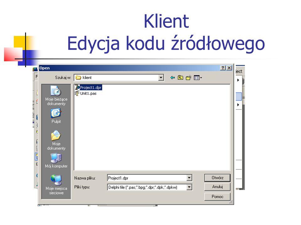 Klient Edycja kodu źródłowego