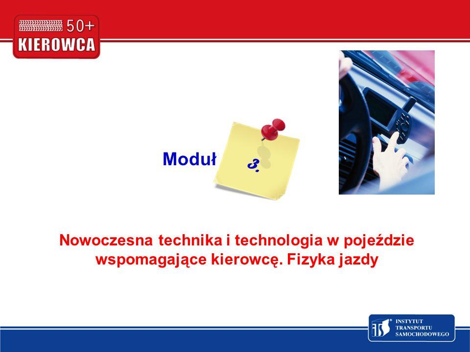 Moduł Nowoczesna technika i technologia w pojeździe wspomagające kierowcę. Fizyka jazdy 3.