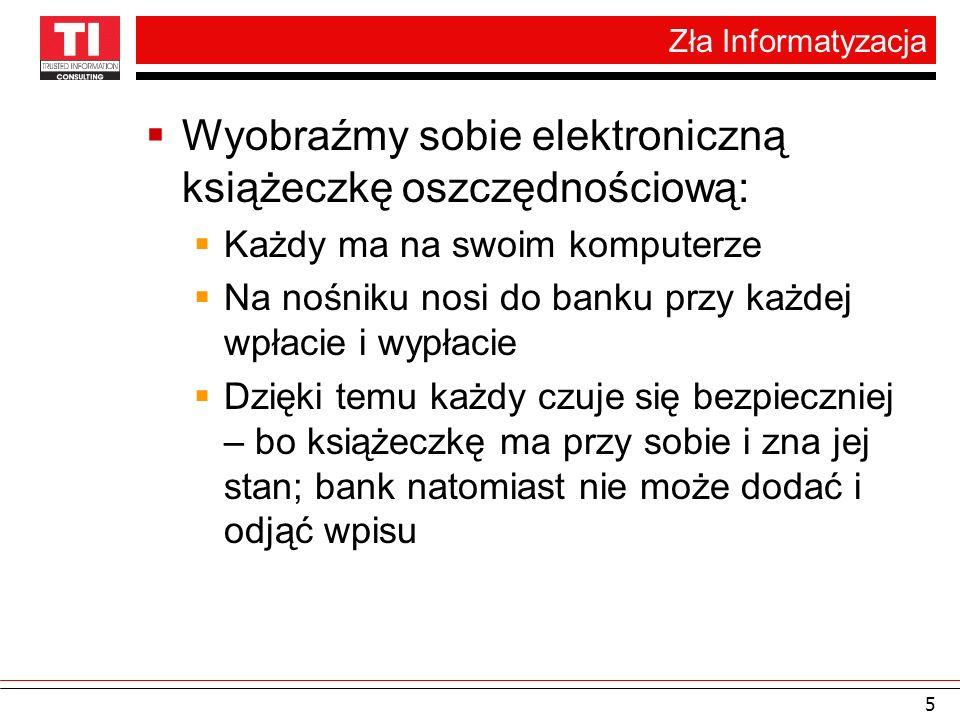 Teraźniejszość bankowości elektronicznej 6 Książeczka oszczędnościowa nie ma postaci dokumentu elektronicznego!!.