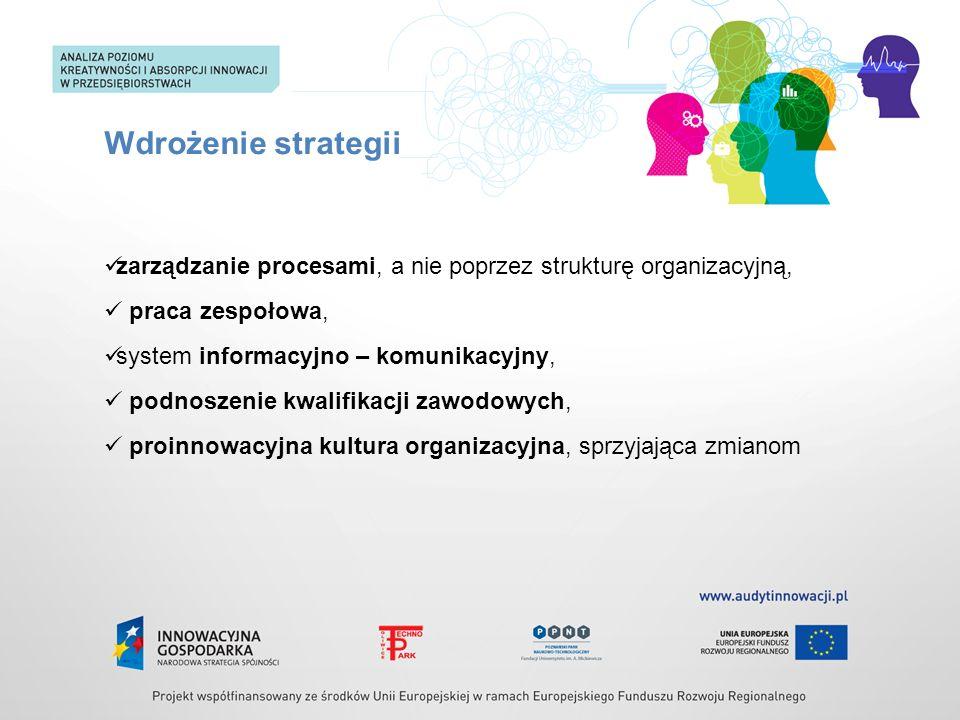 zarządzanie procesami, a nie poprzez strukturę organizacyjną, praca zespołowa, system informacyjno – komunikacyjny, podnoszenie kwalifikacji zawodowyc