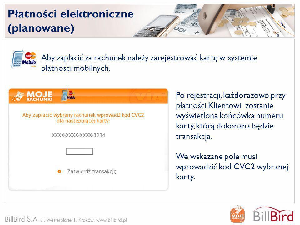 Aby zapłacić za rachunek należy zarejestrować kartę w systemie płatności mobilnych. Po rejestracji, każdorazowo przy płatności Klientowi zostanie wyśw