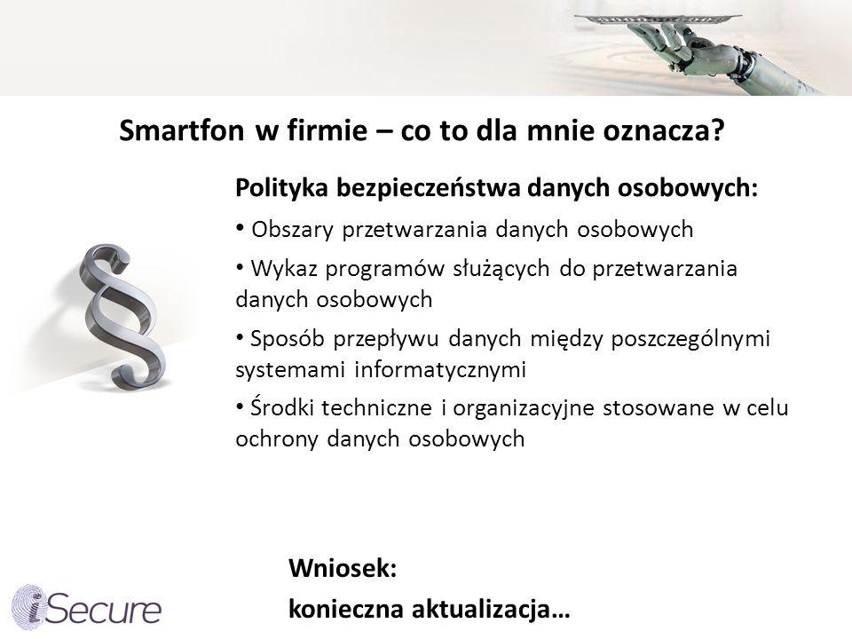 Smartfon w firmie – co to dla mnie oznacza.