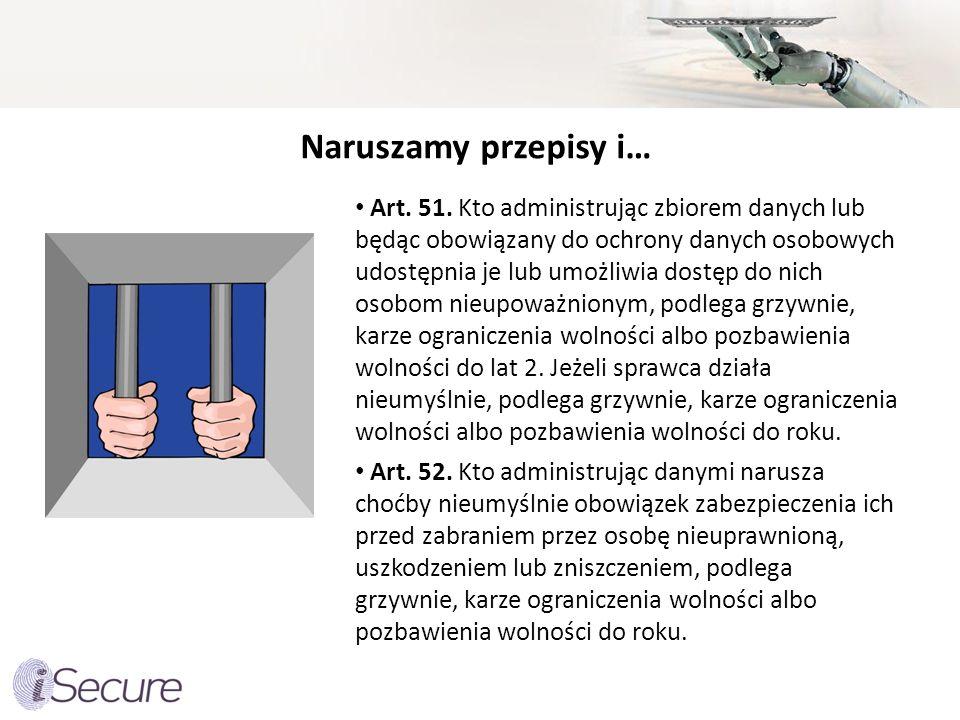 Naruszamy przepisy i… Art.51.