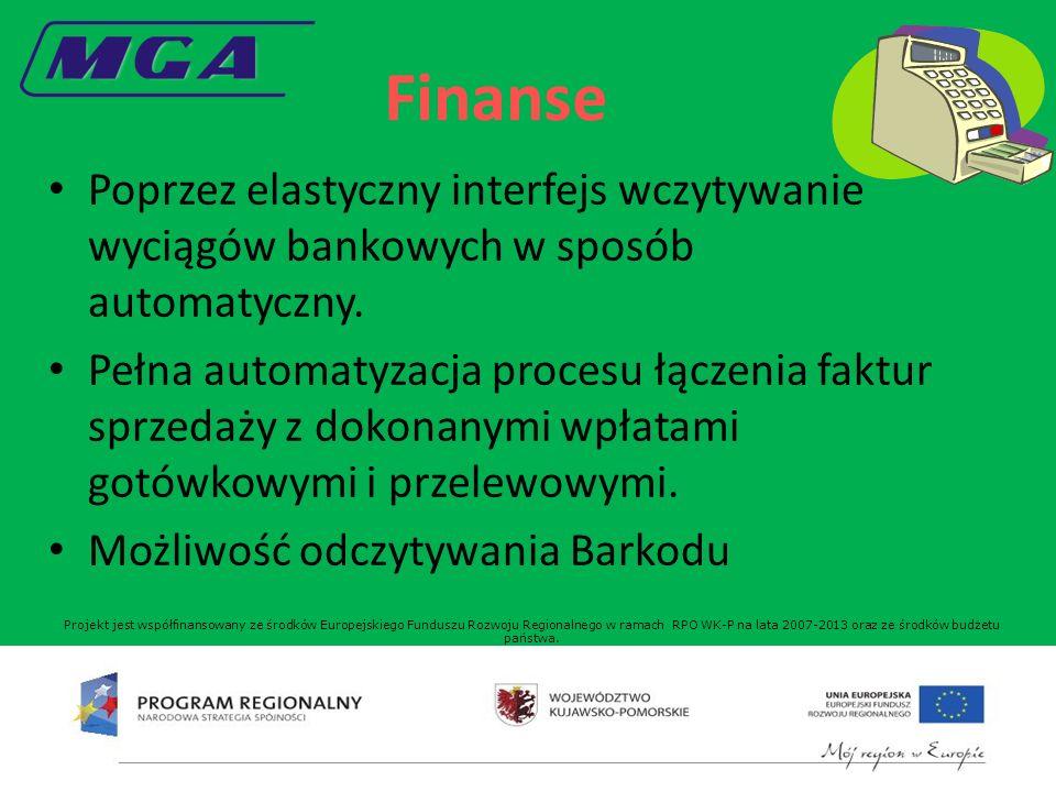 Finanse Poprzez elastyczny interfejs wczytywanie wyciągów bankowych w sposób automatyczny.