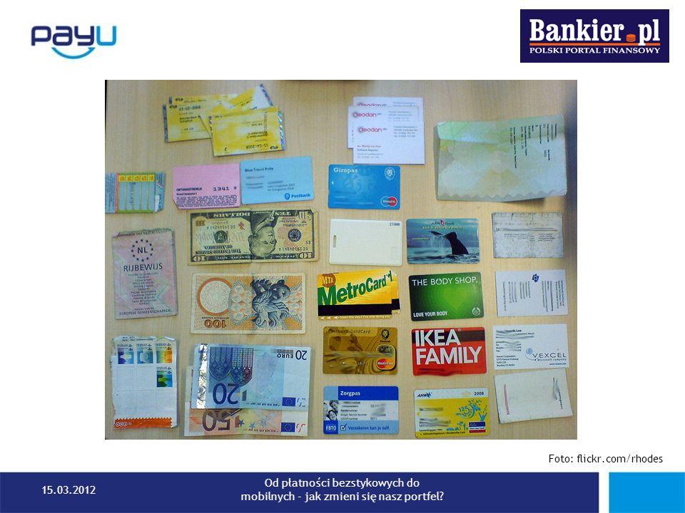Starbucks – portfel zamknięty Karta przedpłacona Klient kredytuje sprzedawcę (w zamian za zniżki i specjalne oferty) Własna aplikacja, własna infrastruktura, Starbucks nie dzieli się przychodami 26 milionów transakcji w 2011 15.03.2012 Od płatności bezstykowych do mobilnych - jak zmieni się nasz portfel?