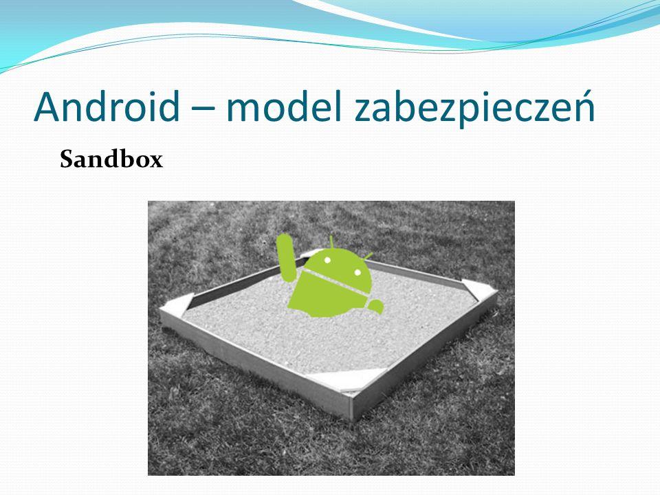 Android – model zabezpieczeń Sandbox
