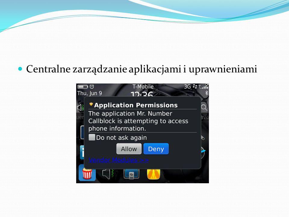 Centralne zarządzanie aplikacjami i uprawnieniami