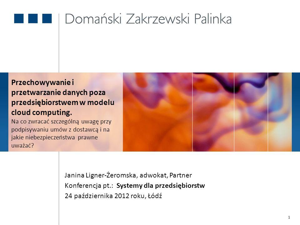 2 1.Charakterystyka usług przetwarzania w chmurze; 2.Rodzaje danych przetwarzanych w chmurze; 3.Zasady ochrony danych osobowych w chmurze; 4.Podstawowe zagadnienia do uregulowania w umowach.