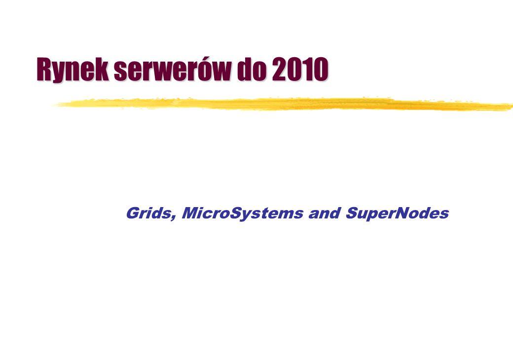 Grids, MicroSystems and SuperNodes Rynek serwerów do 2010