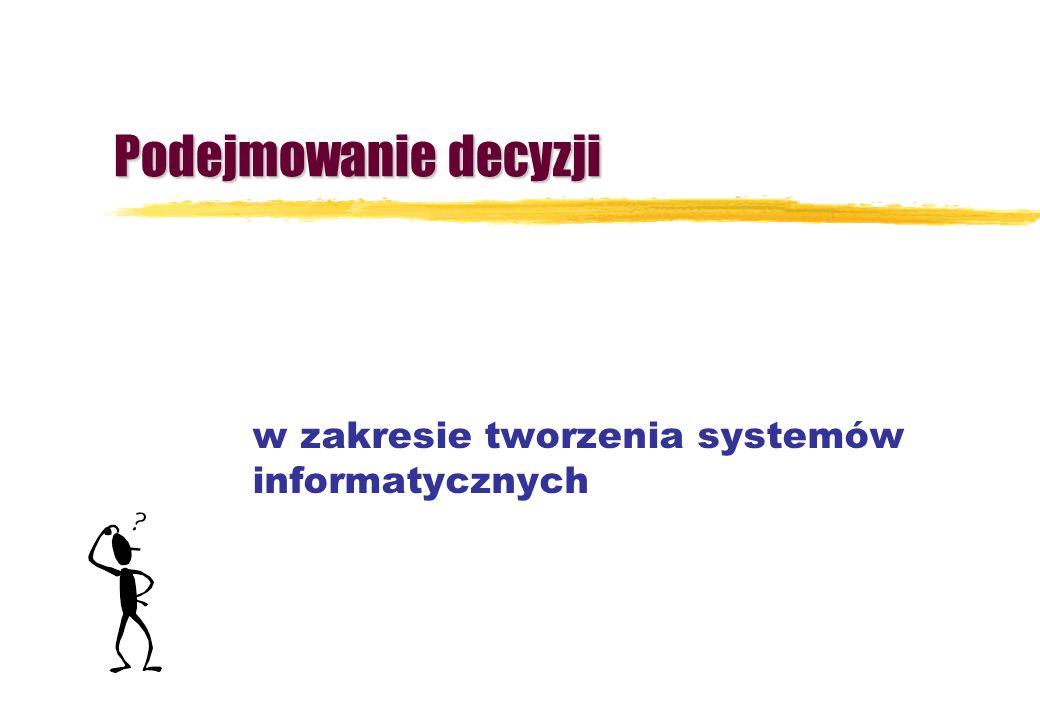 Podejmowanie decyzji w zakresie tworzenia systemów informatycznych
