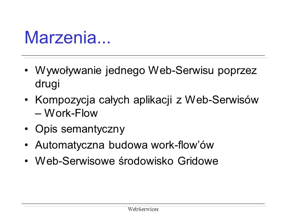 WebSerwices Marzenia...