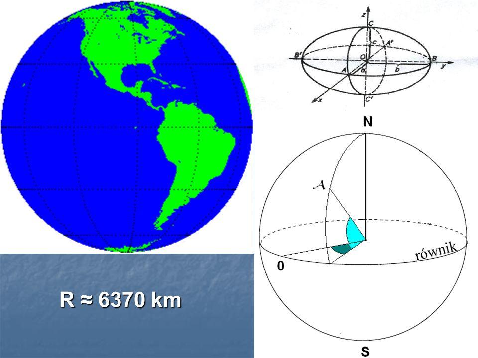 R 6370 km