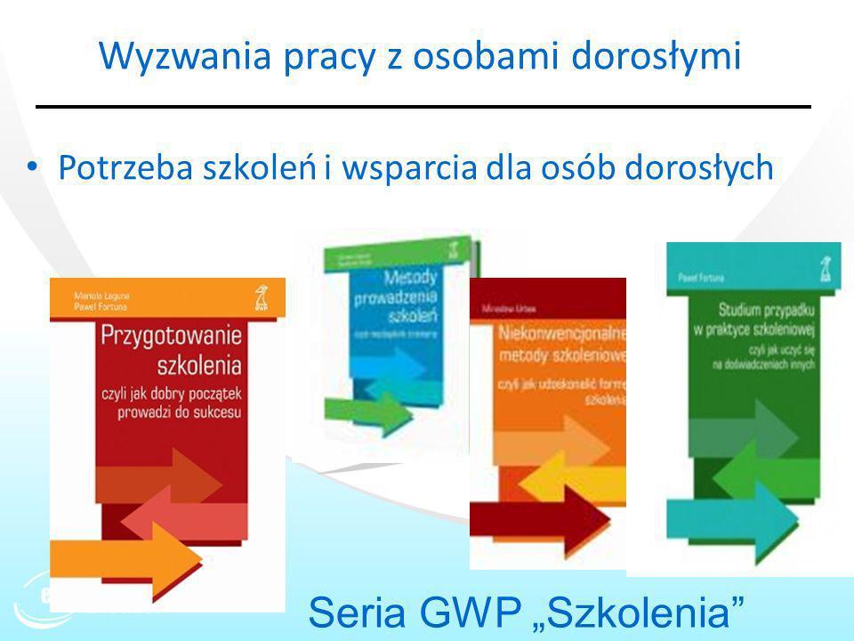Wyzwania pracy z osobami dorosłymi Potrzeba szkoleń i wsparcia dla osób dorosłych Seria GWP Szkolenia