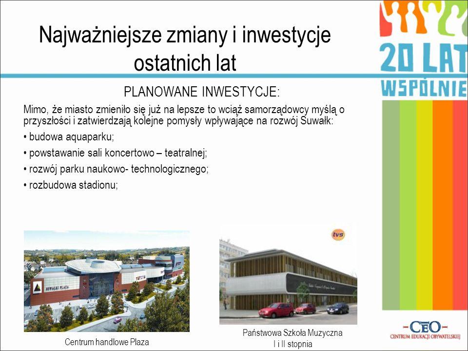Opinie mieszkańców Suwałk o działalności samorządu Ostatnio zaczyna mi się tu podobać Powstają sklepy, ośrodki rekreacyjne, nowe drogi, centrum wyremontowane Pamiętam jak to wszystko wyglądało 10 lat temu.