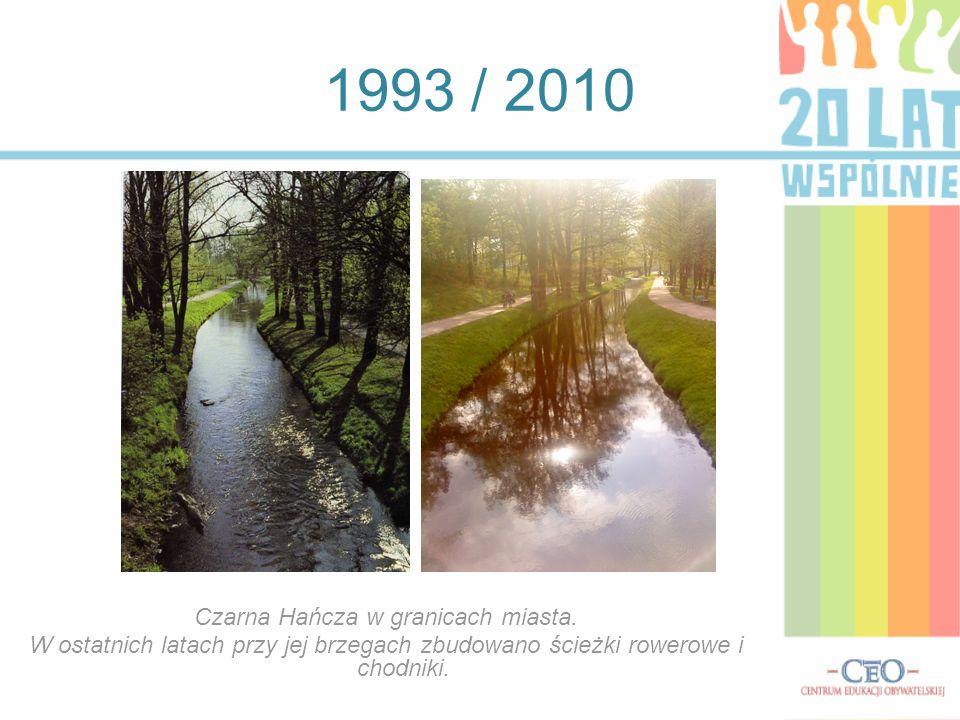 1993 / 2010 Czarna Hańcza w granicach miasta. W ostatnich latach przy jej brzegach zbudowano ścieżki rowerowe i chodniki.