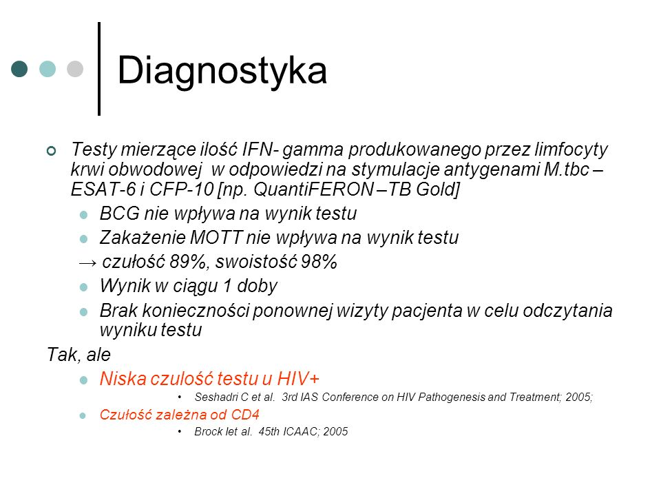 Leczenie p/prątkowe a ARV Suggested timing of HAART in HIV/TB co-infection [AII] CD4 count cells/uLWhen to treat with HAART _____________________________________________________________ <100As soon as possible-dependent on physician assessment, [Some physicians delay up to 2 months] 100-200After 2 months of TB treatment >200After completing 6 months TB treatment _____________________________________________________________ NB: regular 6-8 weekly CD4 count monitoring should be performed.