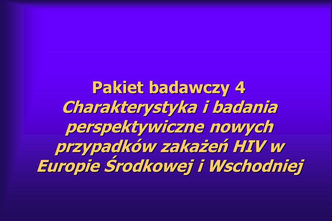 Pakiet badawczy 4 Charakterystyka i badania perspektywiczne nowych przypadków zakażeń HIV w Europie Środkowej i Wschodniej