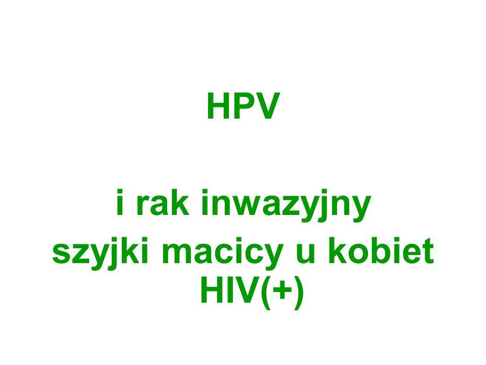HPV i rak inwazyjny szyjki macicy u kobiet HIV(+)